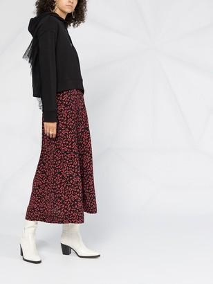 Ganni Floral-Print Midi Skirt