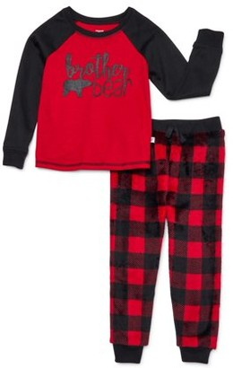 Dreamlife Dream Life Little & Big Brother Bear Boys Pajama Set, 2-Piece, Sizes 4-16