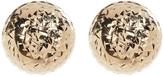 Candela 14K Yellow Gold Diamond Cut Ball Stud Earrings