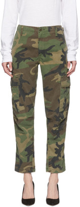 RE/DONE Khaki Camouflage Trousers