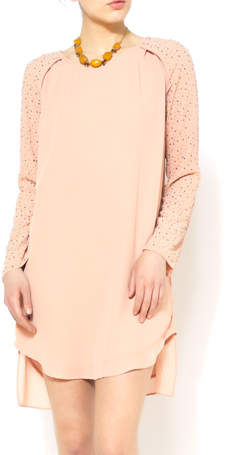 Gracia Studded Sleeve Dress