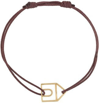 ALIITA 9kt Yellow Gold House Cord Bracelet