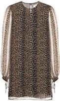 Saint Laurent Leopard-printed silk dress