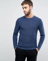 Calvin Klein Crew Neck Sweater in Texture