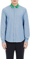 TOMORROWLAND MEN'S KNIT-COLLAR SHIRT