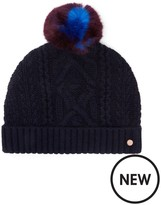 Ted Baker Cable Knot Bobble Hat