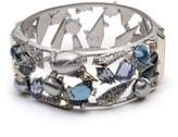 Alexis Bittar Crystal Encrusted Mosaic Lace Hinge Bracelet