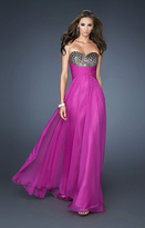 La Femme 18846 Strappy Sweetheart Empire Gown