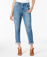Style&Co. Style & Co Patched Cuffed Jeans, Only at Macy's