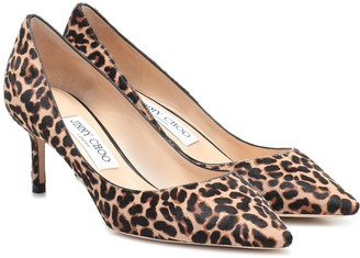 Jimmy Choo Romy 60 leopard-print calf-hair pumps