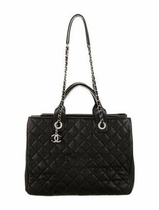 Chanel 2018 Accordion Shopping Tote Black