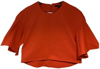 Tibi Red Cotton Tops