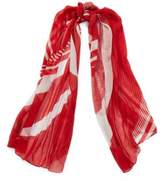 Ralph Lauren Mixed-Stripe Scarf Red One Size