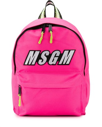 Msgm Kids Logo Patch Backpack