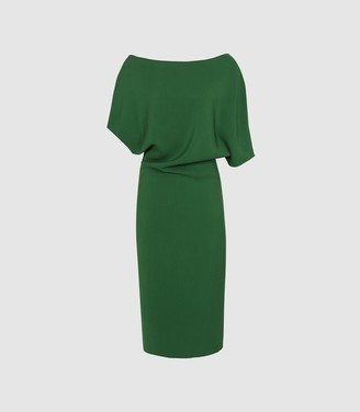 Reiss Madison - Slim Fit Dress in Bright Green