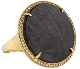 Eva Fehren 18K Sapphire & Diamond Halo Ring