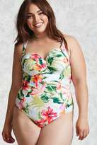 Forever 21 Plus Size Tropical Swimsuit
