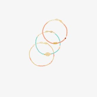Anni Lu gold-plated Wave Chaser bracelet set