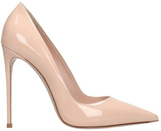 Le Silla Pumps In Powder Patent Leather