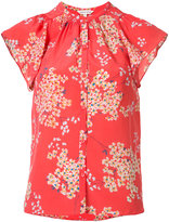 Rebecca Taylor floral print top - women - Silk - 4