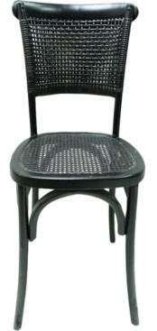 Moe's Home Collection Churchill Dining Chair Antique Black-Set Of Two