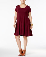 Style&Co. Style & Co Plus Size Short-Sleeve Swing Dress, Only at Macy's