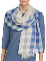 Eileen Fisher Ombré Check Wool Scarf