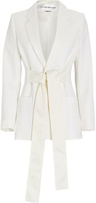 Victoria Beckham Tie-Front Tuxedo Blazer