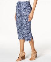 Karen Scott Cotton Printed Capri Pants, Only at Macy's