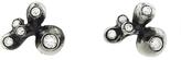 Ten Thousand Things Five Diamond Pavé Oxidized Sterling Silver Molten Cluster Stud Earrings