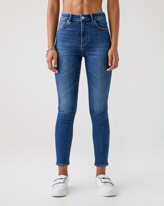 Neuw Women's Blue High-Waisted - Marilyn Skinny Jeans - Size 28 at The Iconic