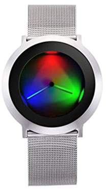 Colour Inspiration Unisex Quartz Watch with Black Dial Analogue Display Quartz Stainless Steel 103927 V000001