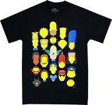 Coast The Simpsons Vector Faces Men's T-Shirt