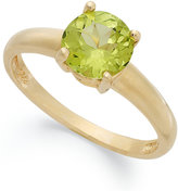Macy's Victoria Townsend 18k Gold over Sterling Silver Ring, Peridot August Birthstone Ring (1-1/4 ct. t.w.)
