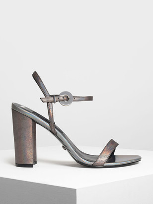 Charles & Keith Block Heel Leather Sandals