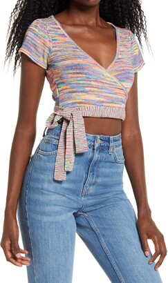 4SI3NNA the Label Kristina Wrap Crop Top