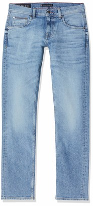 Tommy Hilfiger Men's Straight Denton Pstr Clute Blue Loose Fit Jeans