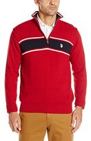 U.S. Polo Assn. Men's Chest Stripe Quarter-Zip Sweater