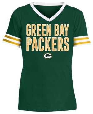 5th & Ocean Big Girls Green Bay Packers Sequin Stripe T-Shirt