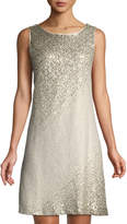 Eliza J Sleeveless Sequin A-line Cocktail Dress