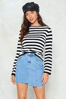 Nasty Gal nastygal Don't Uneven Go There Denim Skirt