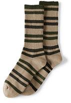 Classic Men's Seamless Toe Cotton Novelty Crew Socks (1-pack)-Light Khaki