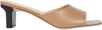 AEYDĒ Katti Leather Slide Sandals