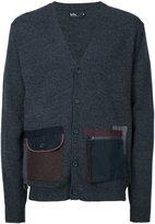 Kolor zip patch pockets cardigan