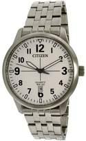 Citizen Men's BI1050-81B Silver Stainless-Steel Quartz Dress Watch