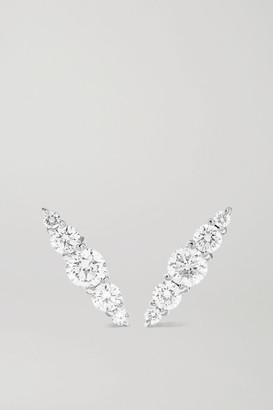 Melissa Kaye Aria 18-karat White Gold Diamond Earrings
