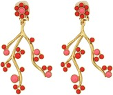 Oscar de la Renta Cabochon and Crystal Vine C Earrings