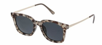 Peepers Women's Endless Summer Polarized Sunglasses Square Gray Tortoise & Gold 49 mm