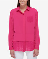 Tommy Hilfiger Embroidered Contrast Shirt, Only at Macy's
