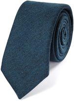 Charles Tyrwhitt Teal Wool Flannel Luxury Tie